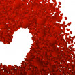Stock Photo: Valentine background from heart confetti