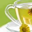 Flower tea cup close up — Stock Photo