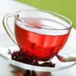 Red rose tea — Stock Photo