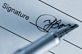 Signature — Stock Photo