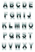 Metal font isolated on white — Stock Photo