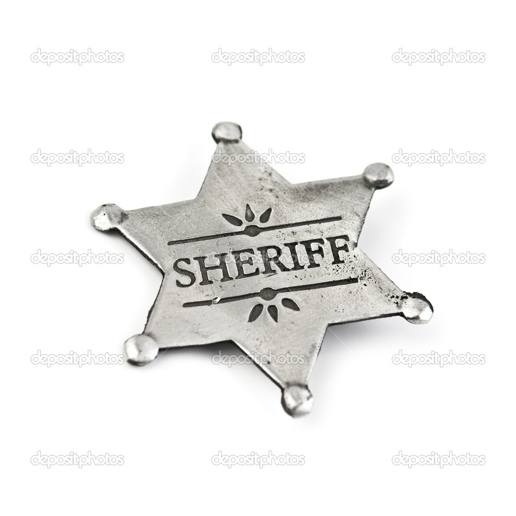 Sheriff star isolated on white — Stock Photo #7233023