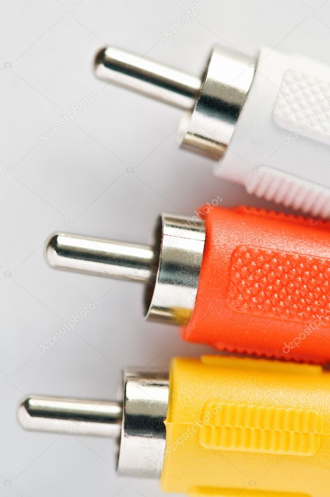 Three video cable close up — Stock Photo #7233792