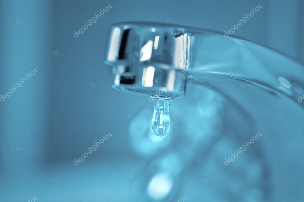 Faucet and water drop closeup — Stock Photo #7234027