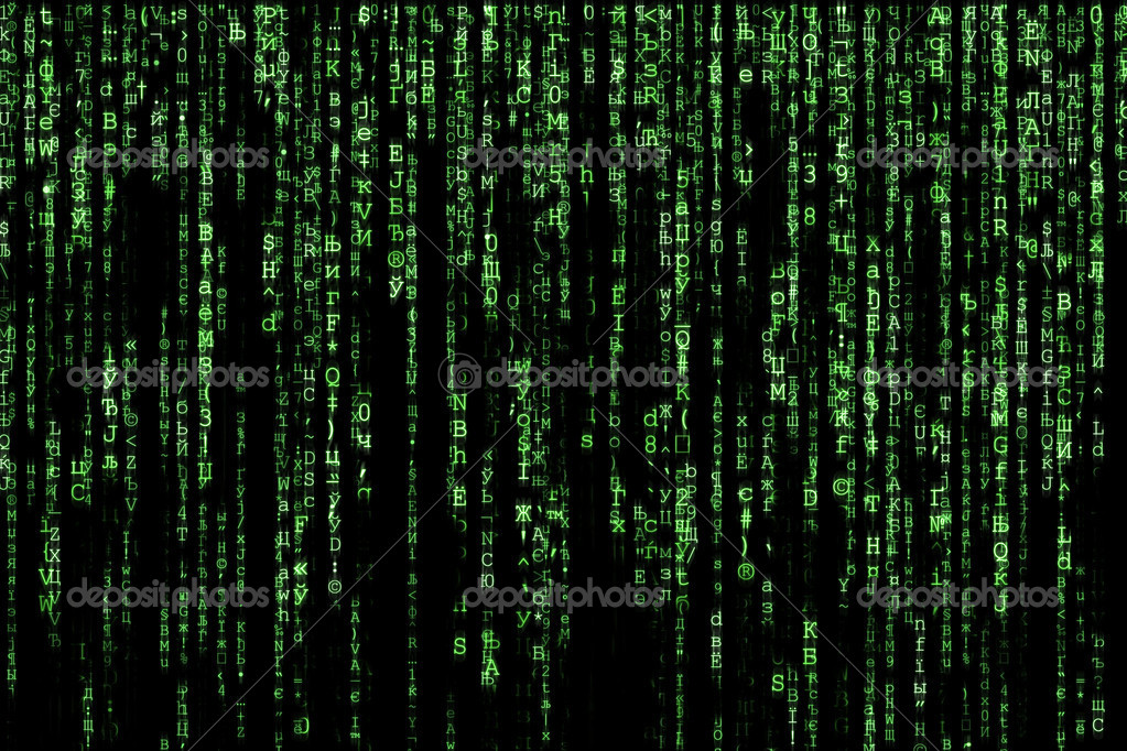 Green matrix background computer generated  Stock Photo #7234649