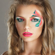 Beautiful young woman with creative make-up — Stock Photo #7902871