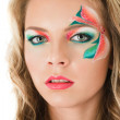 Floral make-up — Stock Photo