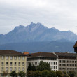 Luzern Switzerland With Mt. Pilatus — Stock Photo