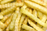 Crinkle Fries Macro View — Stock Photo