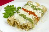 Tacos Dorados Mexican Dish — Stock Photo