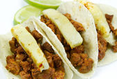 Tacos Al Pastor Mexican Dish — Stock Photo