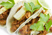 Mexican Tacos Al Pastor Style — Stock Photo