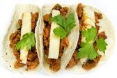 Platillo tradicional mexicano al tacos de pastor — Foto de Stock
