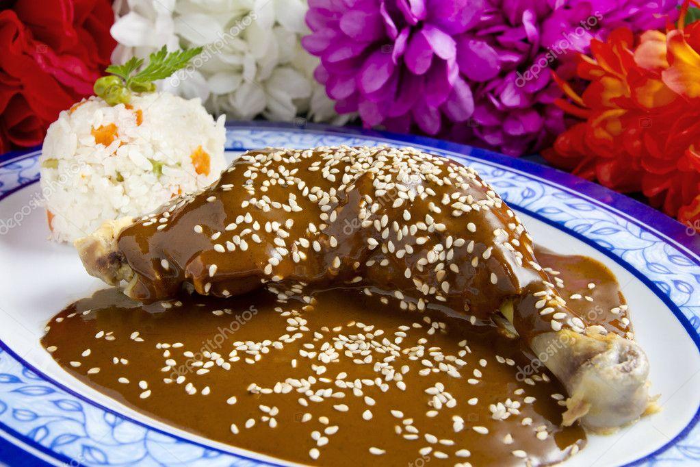 Mole de Pollo Mexicano Pollo Con Platillo Mexicano