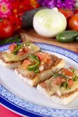 Molletes Mexican Dish — Stock Photo