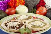 Mexican Sopes Dish — Stock Photo
