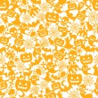 Stock Vector: Halloween orange background
