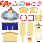 Hot-spring icons — Stock Vector