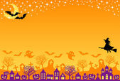 Halloween postcard — Stock Photo