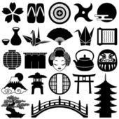Japanese icons — Stock Photo