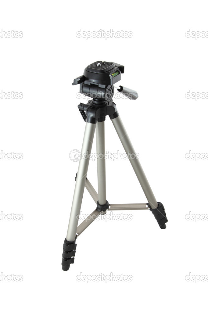 Camera tripod of photographer on white background  Stock Photo #7190332