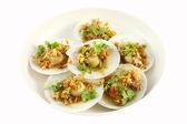 Full plate of shell sea food — Stockfoto