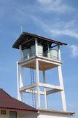 Water fiber glass tanks tower — Zdjęcie stockowe
