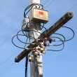 Node of electric pole junction. — Stock Photo #7833931
