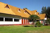 Yellow roof building — Stock fotografie
