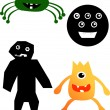 Cartoon monsters — Stockvektor #7228042