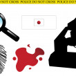 Crime scene elements — Stock Vector