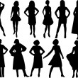 Stock Vector: Women silhouettes