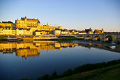 Sunset at Chateau de Amboise in Loire valley, France — Stock Photo