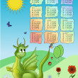 Royalty-Free Stock Vector Image: Calendar 2012 with dragon