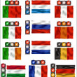 Traffic lights and flags - Europe — Stock Vector #7810029