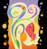 Regenboog exotische bloem — Stockvector