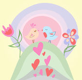 Tiny love bird — Stock Vector