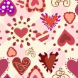 Stock Vector: Sweet love pattern