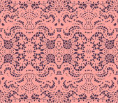 Pink lace doily — Stock Vector