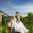 Bride on nature — Stock Photo
