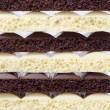 Stock Photo: White and black chocolate