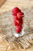 Berry in glass — Stock Photo