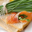 Stock Photo: Bread with salmon