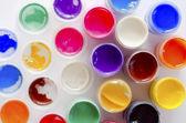Barva olejová barva lahve — Stock fotografie