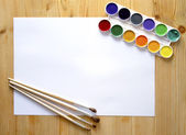 Paintbrush and paint — Stock Photo