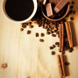 Coffee with cinnamon — Stock Photo #7330524