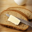 Bread with butter - Stock Photo
