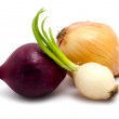 Stock Photo: Onion on white background