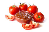 Tomato and sauce — Stock Photo