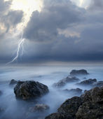 Storm on sea — Stock fotografie